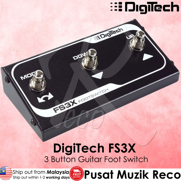 DigiTech FS3X 3-Button Guitar Foot Switch - Recomusic