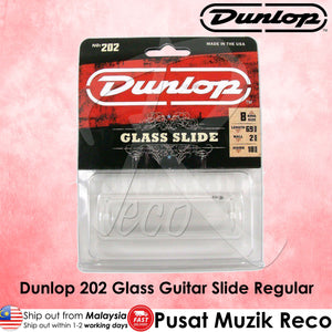 Dunlop 202 Guitar Pyrex Glass Slide, Regular Wall Thickness - Medium | Reco Music Malaysia