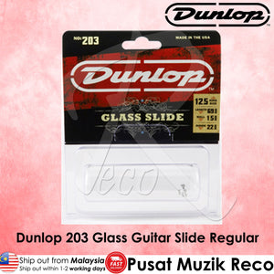 Jim Dunlop 203 Guitar Pyrex Glass Slide, Large Wall Thickness - Large | Reco Music Malaysia