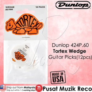 Dunlop 424P TORTEX WEDGE Guitar Picks Player Pack (12pcs) | Reco Music Malaysia