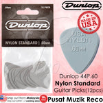 Dunlop 44P Nylon Standard Cream Guitar Picks Player Pack (12pcs) | Reco Music Malaysia
