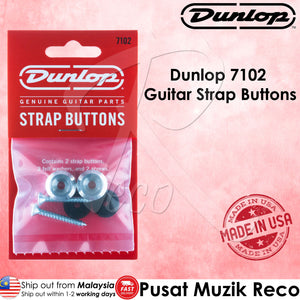 Jim Dunlop 7102 Instrument Guitar Ukulele Strap Button Set  - Reco Music Malaysia
