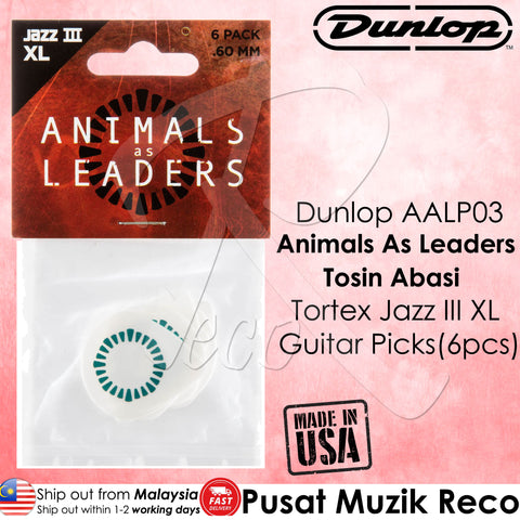 Dunlop AALP03 Animals As Leaders Tosin Abasi Tortex Jazz III XL Guitar Picks (6pcs) | Reco Music Malaysia