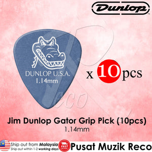 Jim Dunlop 417P1.14 Gator Grip Blue Guitar Pick 1.14mm - Reco Music Malaysia