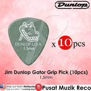Jim Dunlop 417P1.5 Gator Grip Green Guitar Pick 1.5mm - Reco Music Malaysia
