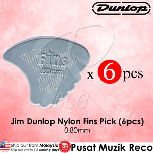 6 x Jim Dunlop Nylon Fins Guitar Pick 0.80mm - Reco Music Malaysia