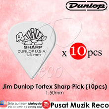Load image into Gallery viewer, Jim Dunlop Tortex Sharp Guitar Pick 1.50mm - Reco Music Malaysia