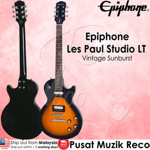 Epiphone Les Paul Studio LT VS Electric Guitar-Vintage Sunburst | Reco Music Malaysia