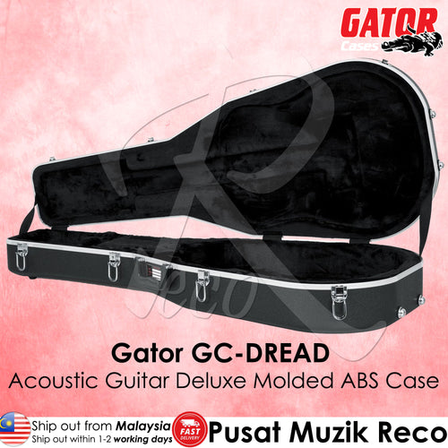 Gator GC-DREAD Deluxe Molded ABS Case for Acoustic Dreadnought Guitar | Reco Music Malaysia