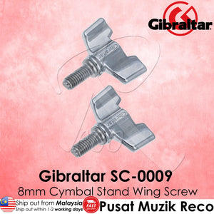 Gibraltar SC-0009 8mm Drum Cymbal Stand Wing Screw (2/Pack) | Reco Music Malaysia