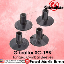 Load image into Gallery viewer, Gibraltar SC-19B 8mm 4-pack Short Flanged-Base Cymbal Sleeves | Reco Music Malaysia