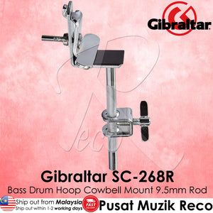 Gibraltar SC-268R 3/8 inch Bass Drum Cowbell Hoop Mount | Reco Music Malaysia