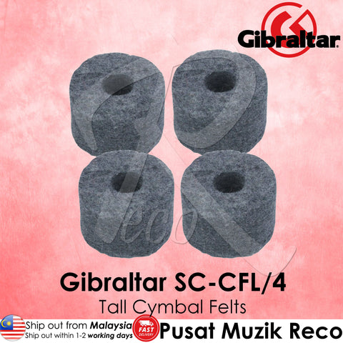 "Gibraltar SC-CFL/4 1-1/2"" Large Cymbal Felts Tall (4/Pack) 