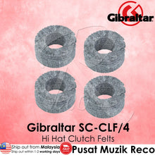 Load image into Gallery viewer, Gibraltar SC-CLF/4 Hi-Hat Clutch Felts 4/Pack | Reco Music Malaysia