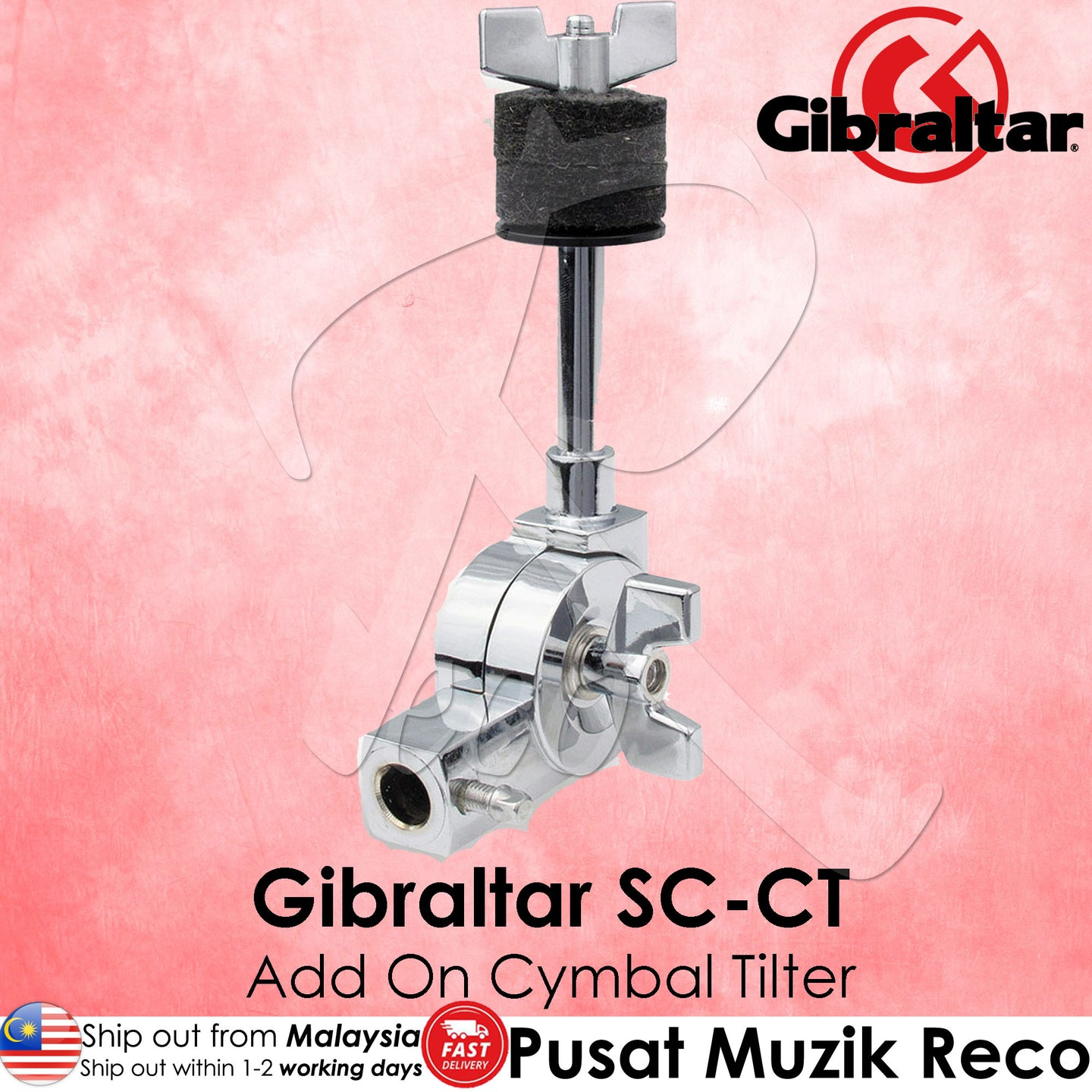 Gibraltar SC-CT Add-On Cymbal Tilter Arm | Reco Music Malaysia