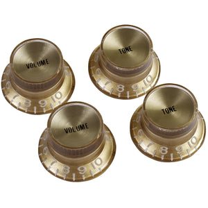 Gibson PRMK-030 Top Hat Knobs w/Metal Insert - Gold w/Gold - Recomusic