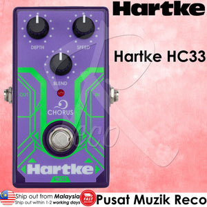 Hartke HC33 Chorus - Analog Bass Chorus Guitar Effects Pedal - Recomusic