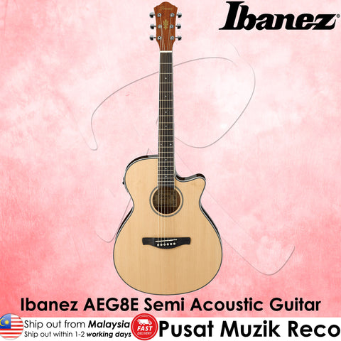 Ibanez AEG8E Semi Acoustic Guitar - Natural