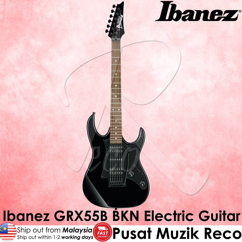 Ibanez GIO GRX55B BKN Black Night Electric Guitar - Reco Music Malaysia