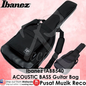 Ibanez IABB540-BK Powerpad ACOUSTIC BASS Black Guitar Bag - Reco Music Malaysia
