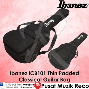 Ibanez ICB101 Basic Thin Padded CLASSICAL Guitar Bag - Reco Music Malaysia