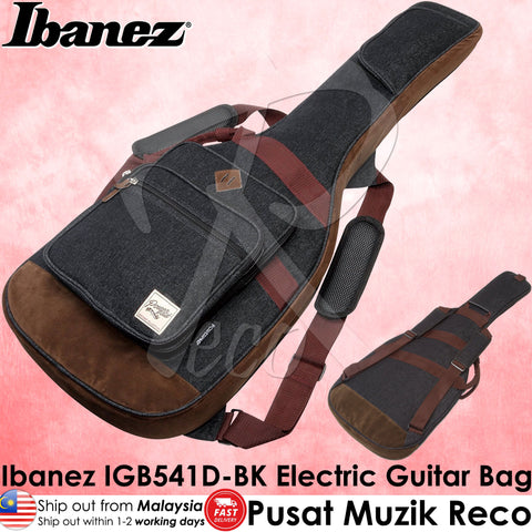 Ibanez IGB541D-BK Powerpad Series Designer Collection Electric Guitar Bag (Denim Black) - Recomusic
