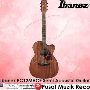 Ibanez PC12MHCE OPN Grand Concert Semi Acoustic Guitar - Reco Music Malaysia