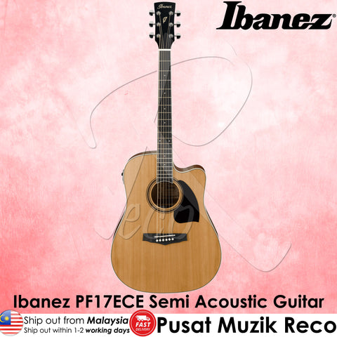 Ibanez PF17ECE LG Semi Acoustic Guitar - Natural Low Gloss