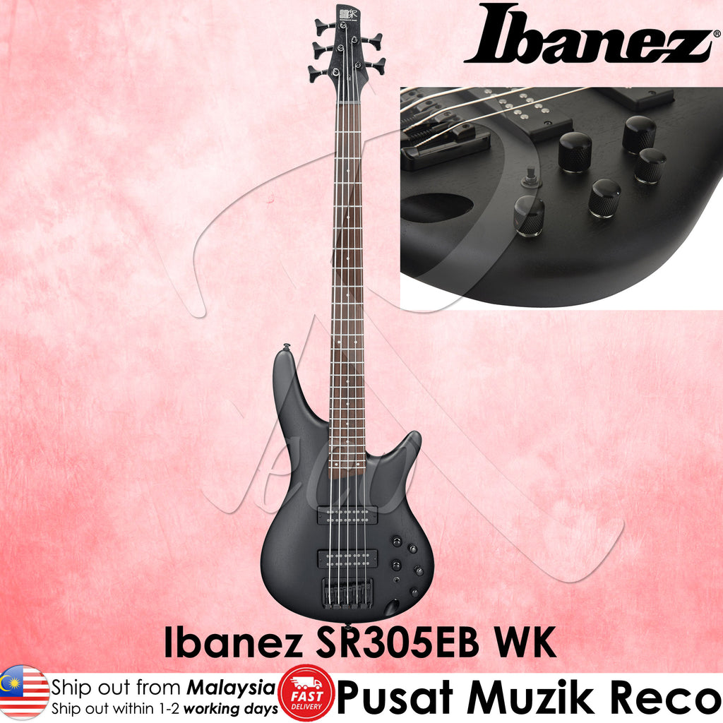 Ibanez SR305EB-WK Weathered Black 5 String Electric Bass Guitar  - Reco Music Malaysia