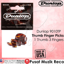 Load image into Gallery viewer, Jim Dunlop 9010TP Shell Plastic Finger & Thumbpicks Player Pack (4pcs) - Recomusic