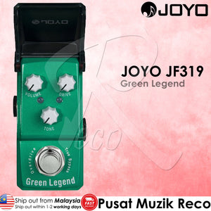 Joyo JF-319 Green Legend Overdrive Guitar Effect - Reco Music Malaysia