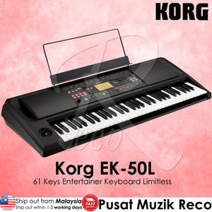 Korg EK-50 L 61-key Arranger Entertainer Limitless Keyboard - Reco Music Malaysia