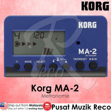Load image into Gallery viewer, Korg MA-2 Blue Black Digital Metronome - Reco Music Malaysia
