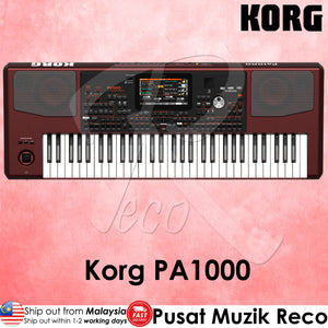 Korg Pa1000 61-key Professional Arranger Workstation Keyboard - Reco Music Malaysia