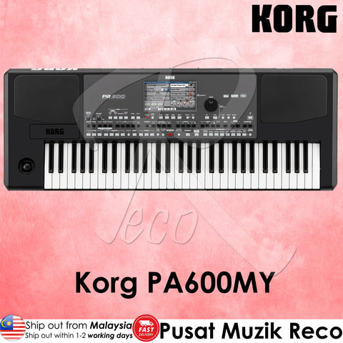 Korg Pa600MY Malaysian Music Style 61-key Arranger Workstation Keyboard(PA-600MY)