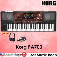 Load image into Gallery viewer, Korg Pa700 61-key Arranger Workstation - Reco Music Malaysia