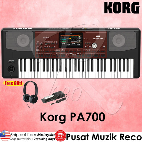 Korg Pa700 61-key Professional Arranger Workstation Keyboard - Recomusic