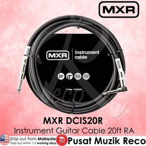 MXR DCIS20R Standard Instrument Cable 20ft Right Angle | Reco Music Malaysia