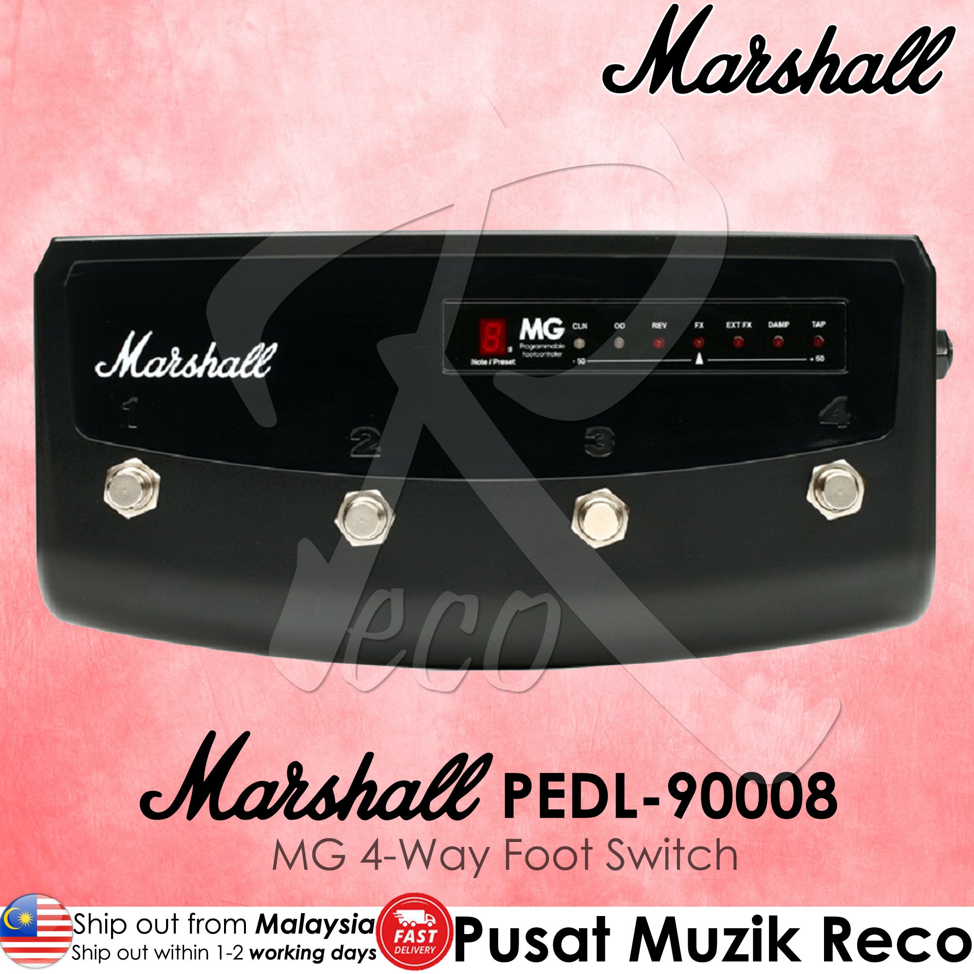 Marshall PEDL-90008 MG 4-Way Footswitch | Reco Music Malaysia