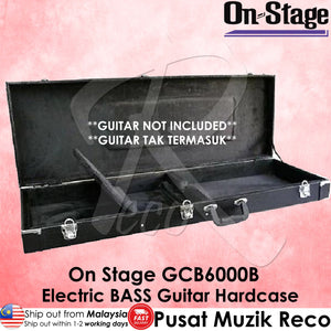 On Stage GCB6000B Electric BASS Guitar HardCase Hard Case - Reco Music Malaysia