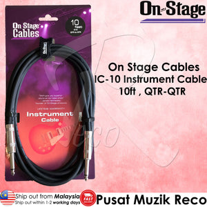 OSS IC-10 Instrument Guitar Cable 10ft ( QTR-QTR ) | Reco Music Malaysia
