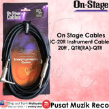 OSS IC-20R Instrument Guitar Cable 20ft Right Angle | Reco Music Malaysia
