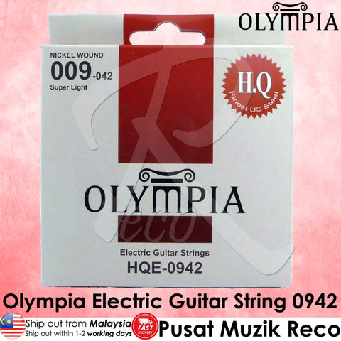 Olympia HQE-0942 Electric Guitar String 0942 - Recomusic