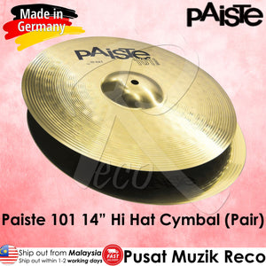 Paiste 101 Brass 14 Inch Hi Hat Cymbals - Reco Music Malaysia