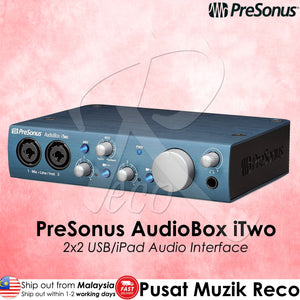 Presonus AudioBox iTwo USB iPad Audio Interface - Reco Music Malaysia