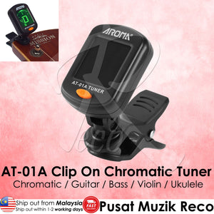 RM AT-01A Rotary Chromatic Clip On Tuner - Reco Music Malaysia