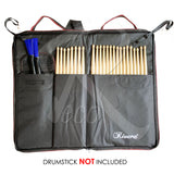 RM Extra Large Padded Drumstick Bag Stick Holder - Hold 12 Pairs Drumstick - Recomusic