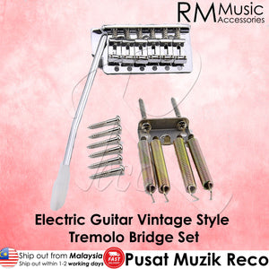 RM High Quality Vintage Style Electric Guitar Tremolo Bridge System Set Chrome - Reco Music Malaysia