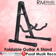 Load image into Gallery viewer, RM Solid Guitar A Stand for Acoustic, Electric, Bass Guitar and Ukulele