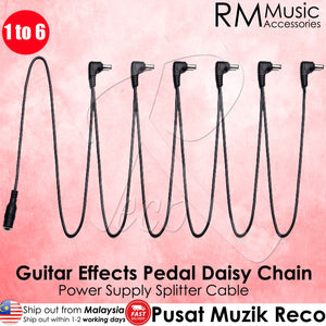 Vitoos PC6 Guitar Effects Pedal Daisy Chain Cable 1 to 6 - Recomusic